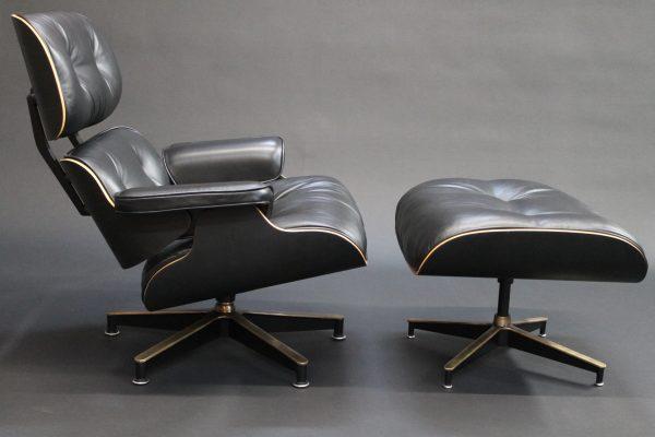 custom bespoke eames lounge chair and ottoman photo