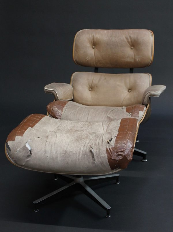 eames lounge chair and ottoman front view photo