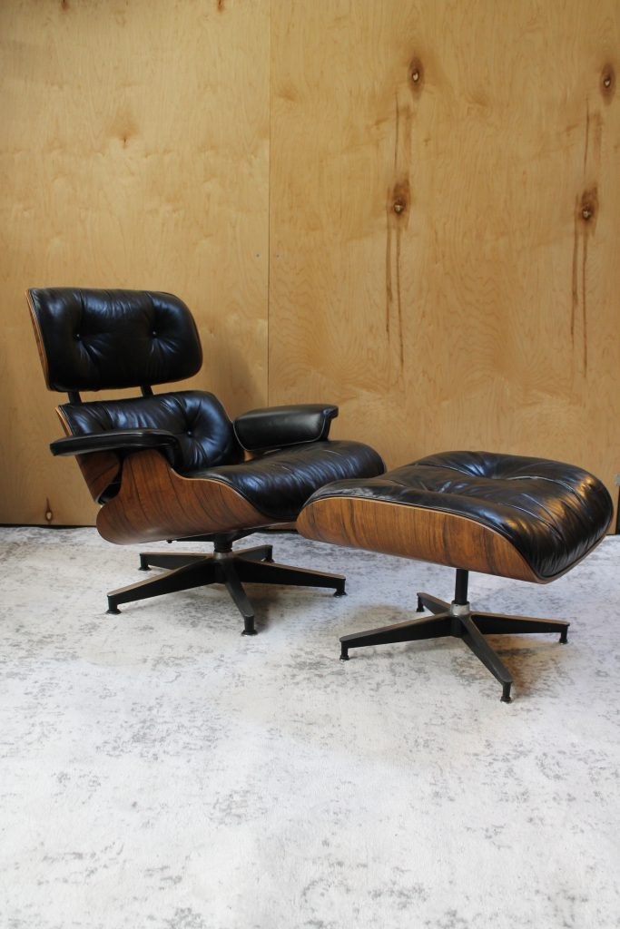vintage eames lounge and ottoman